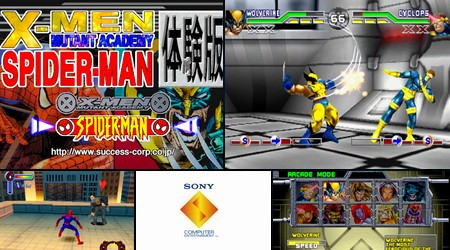 X-Men: Mutant Academy & Spider-Man Promotion (Taikenban) (J) - Download ISO ROM (Bin Cue PS1 PSX)