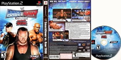 WWE SmackDown vs. RAW 2008 (NTSC-U US PAL EU Eng De Fr Es It Kor Jap) - Download ISO ROM (PS2)