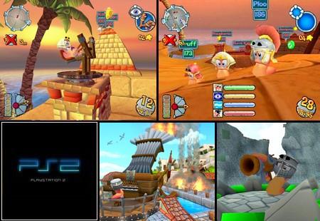 Worms Forts: Under Siege (PAL EU NTSC-U US Eng Es It De Fr) - Download ISO ROM (PS2)