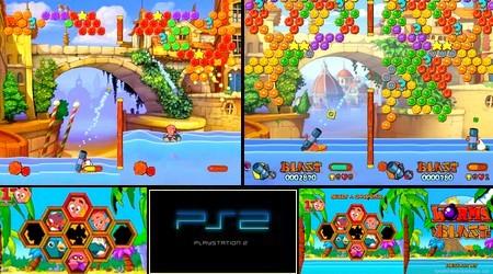 Worms Blast (PAL EU Eng De Es It Fr) - Download ISO ROM (PS2)