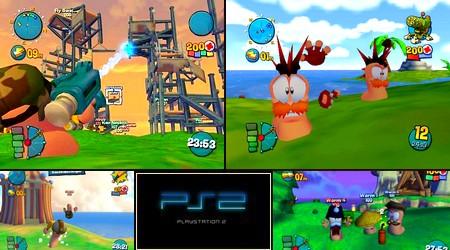Worms 4: Mayhem (PAL EU Eng Es De It Fr) - Download ISO ROM (PS2)