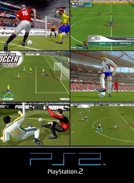World Tour Soccer 2005 (NTSC-U US Eng It Fr Es) - Download ISO ROM (PS2)