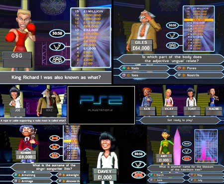 Who Wants to Be a Millionaire: Party Edition (PAL EU Eng It Ger De) - Download ISO ROM (PS2)