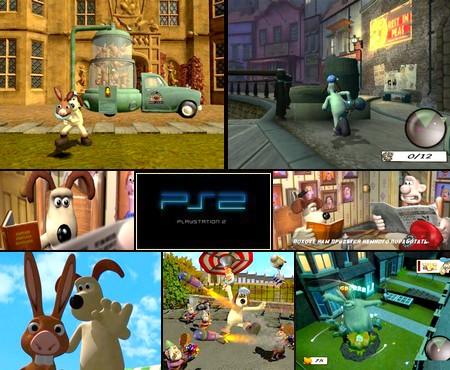 Wallace & Gromit: La Maledizione Del Coniglio Mannaro (PAL EU Eng Ita) - Download ISO ROM (PS2)