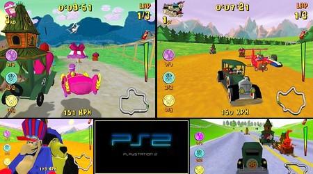 Wacky Races: Mad Motors (PAL EU En Es Fr De It Pt Nl Sv Fi Su No) - Download ISO ROM (PS2)
