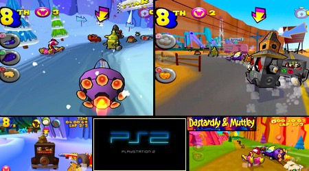 Wacky Races: Starring Dastardly & Muttley (PAL EU Eng Es Fr De It) - Download ISO ROM (PS2)